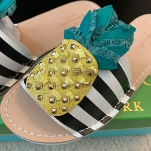 Brand new Kate Spade pineapple slides sandals